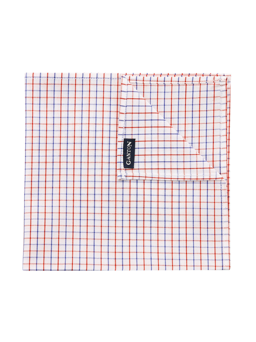 Blue and Red Check Pocket Square