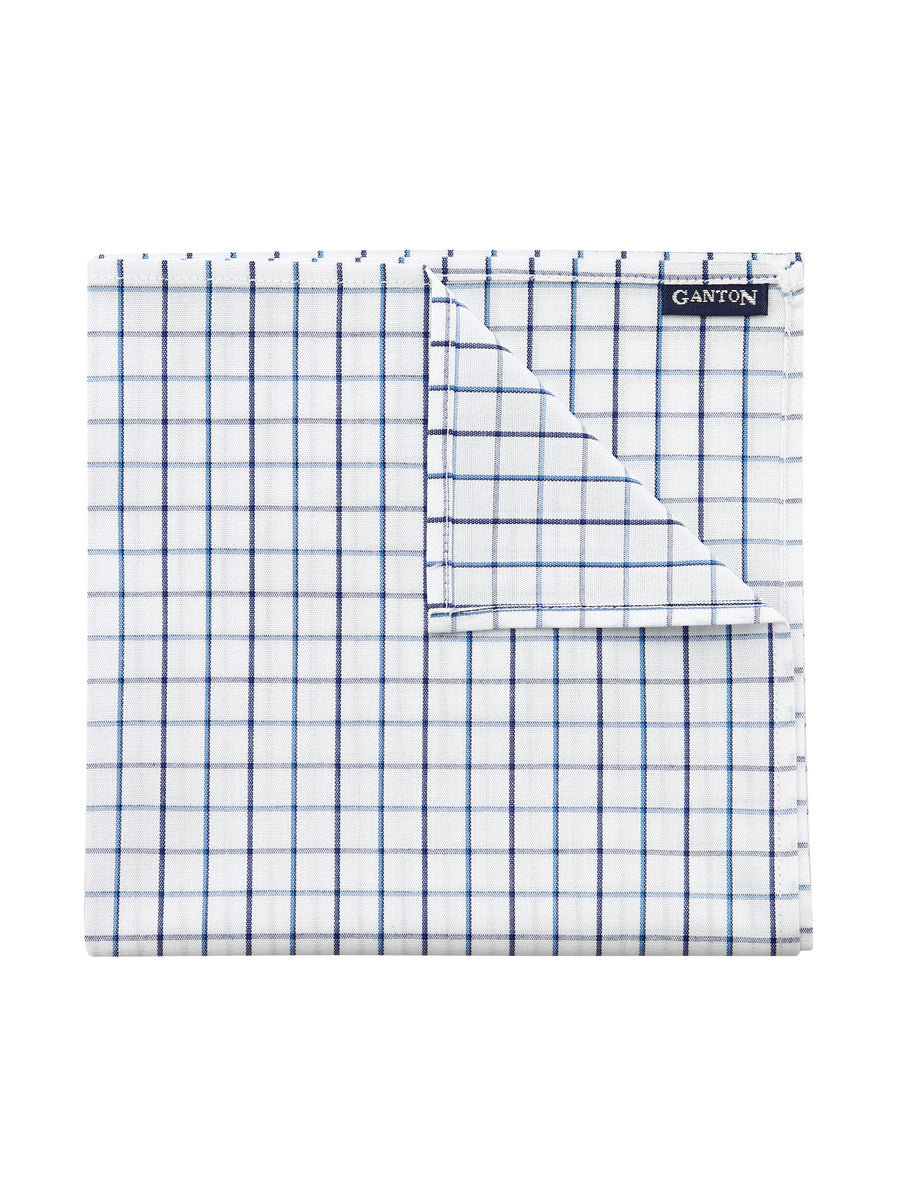 Blue Check Pocket Square