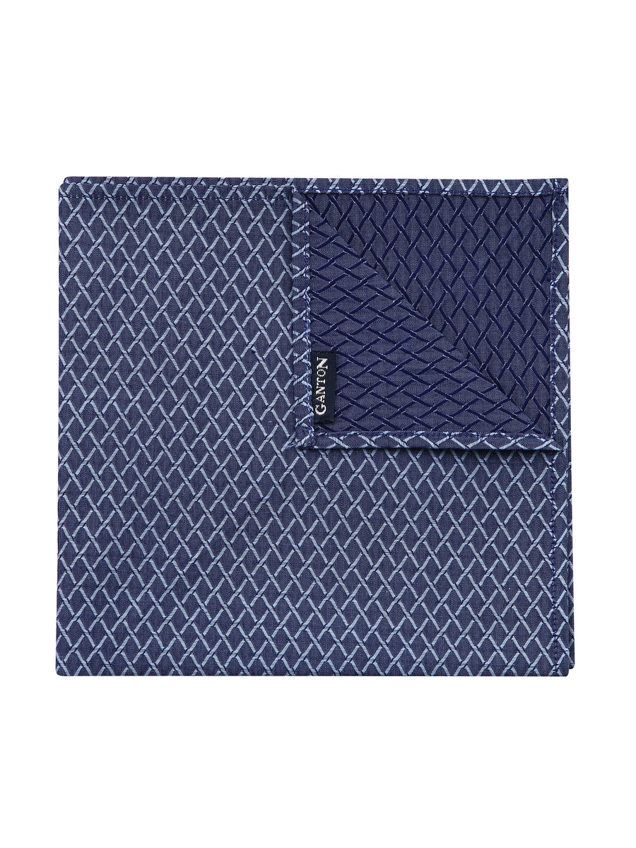 Navy Pattern Pocket Square