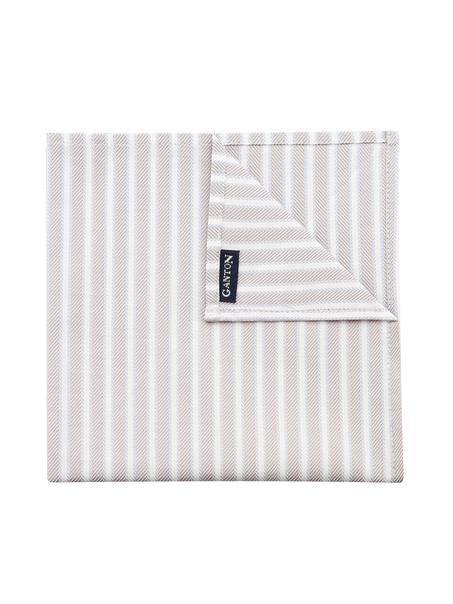 Grey and Lilac Stripe Pocket Square