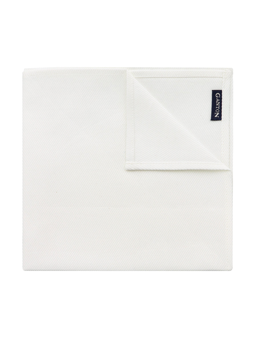 White Twill Pocket Square