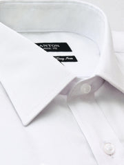 The Andrew textured Ganton shirt with spread collar and placket
