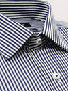 Ganton classic fit navy stripe shirt, with placket and pocket