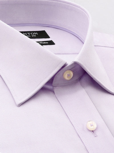 Purple Classic Fit Shirt with Spread Collar