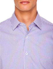Ganton Bobby check shirt with no tie