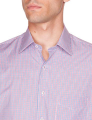 Pure Cotton Easy Iron Caleb red check Ganton shirt without tie