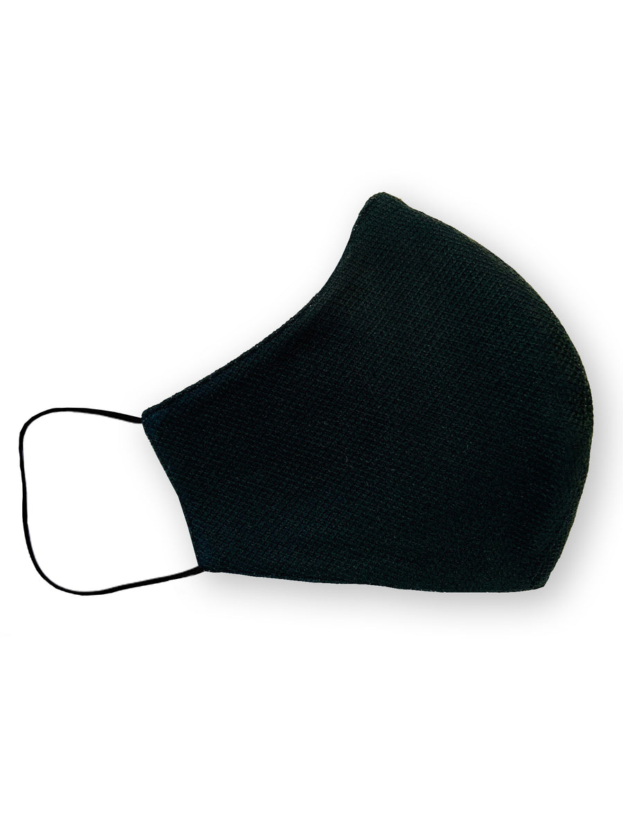 Plain Black Four Layer Cotton Face Mask