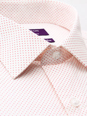 The Brody red spot Ganton shirt with a spread collar and plain front