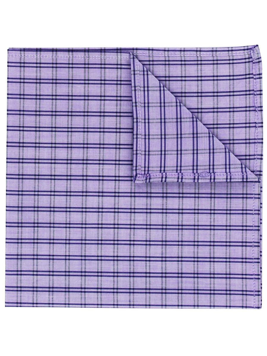 Purple Check Pocket Square