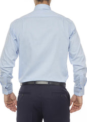 Ganton Charlie textured blue shirt back image