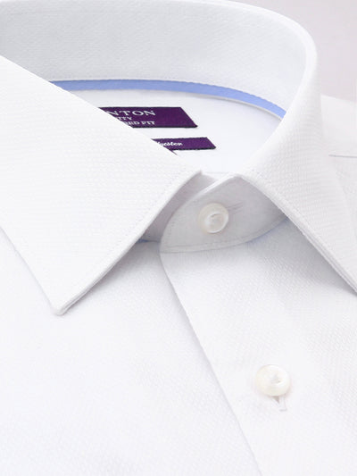 Ganton | White Business Shirt with Classic Spread Collar