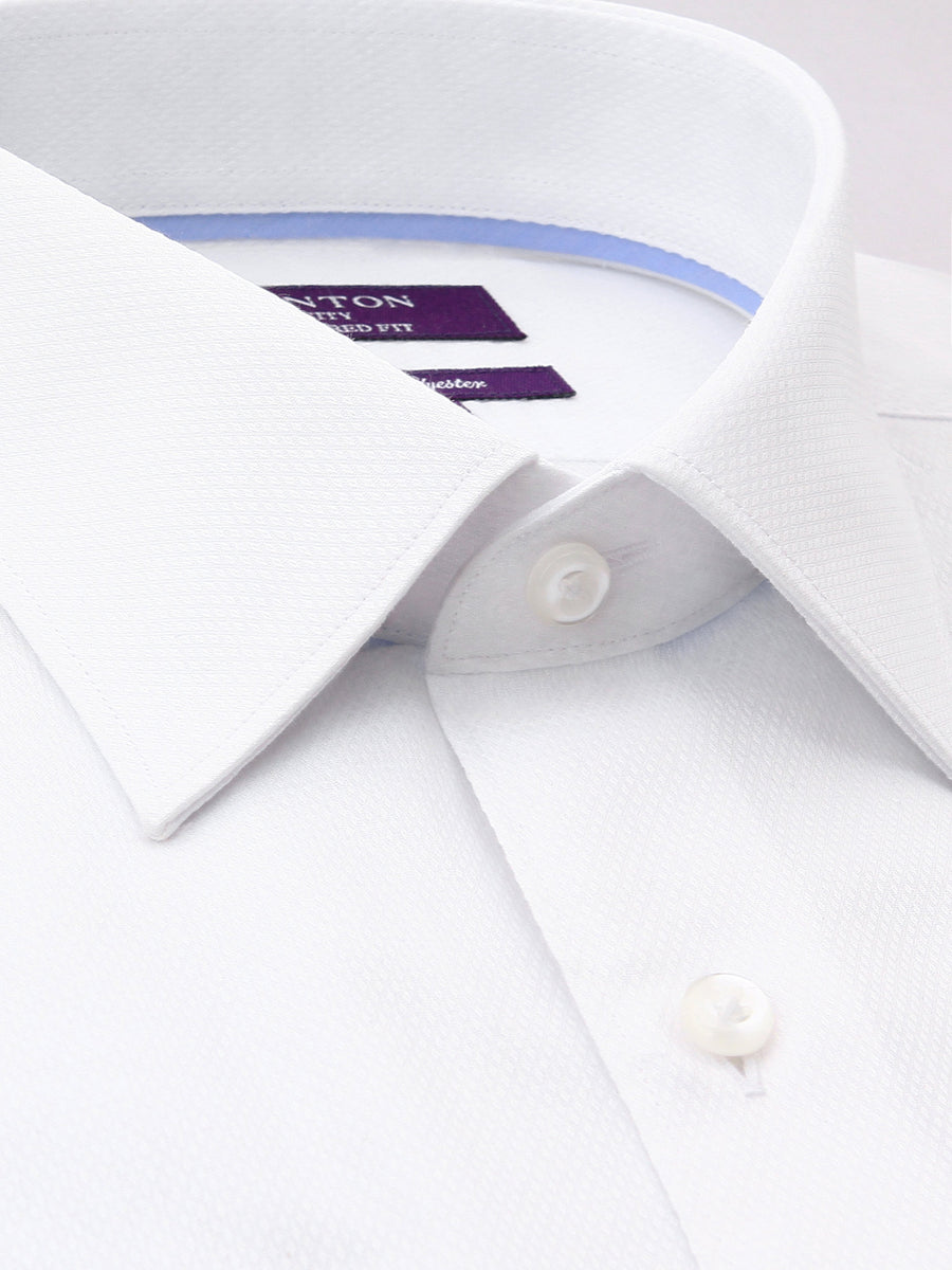 Ganton | White Cotton Polyester Men's Business Shirt