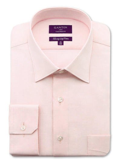 The Tom Pink Oxford Shirt in City Tailored Fit, features a pocket, spread collar and button cuff