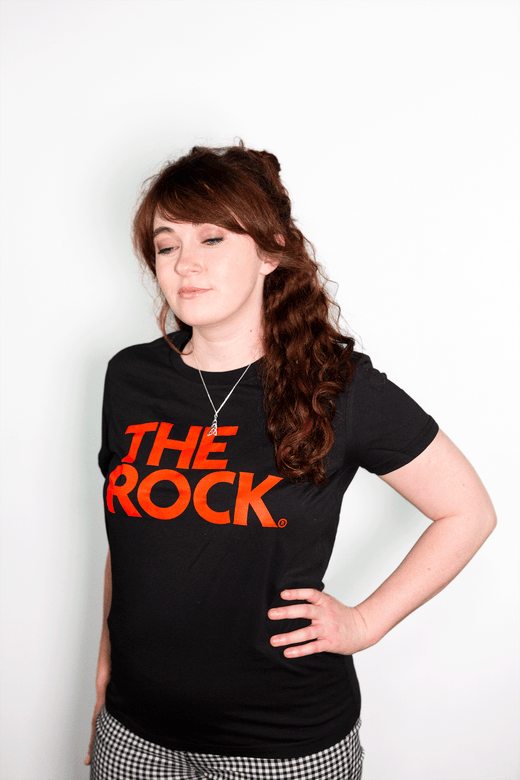 THE ROCK LOGO WOMEN'S T-SHIRT