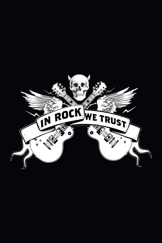 RETRO IN ROCK WE TRUST T-SHIRT