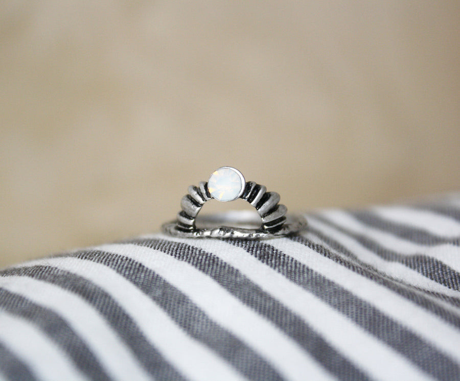 Boho Style Mondstein - Ring Stack Ring Statement