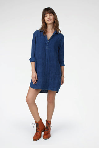 Ryan Dress - Dark Wash Indigo
