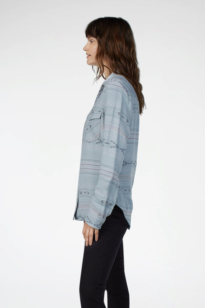 Stacy Western Shirt - Vapor Blue Arrow