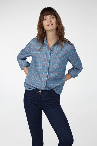 Malibu Shirt - Medium Indigo Windowpane