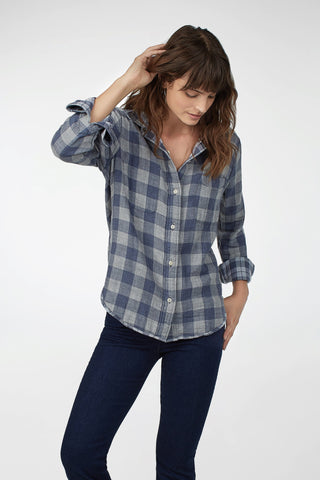 Reversible Belmar Shirt - Navy & Grey Plaid