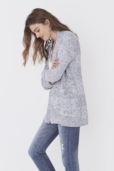 Horizon Cardigan - Blue & White