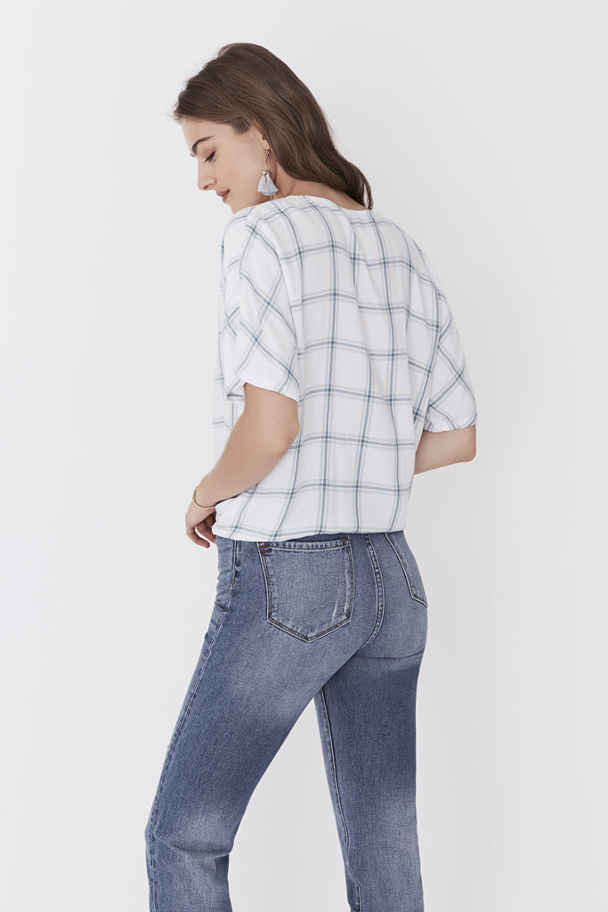 Alice Top - Coastal Windowpane