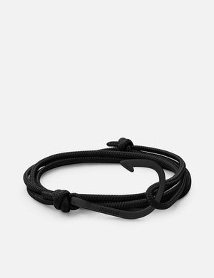 Miansai Hook on Rope Noir - Black