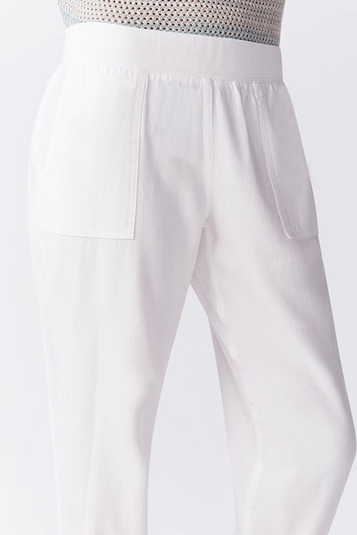 white jogger lounge pant closeup