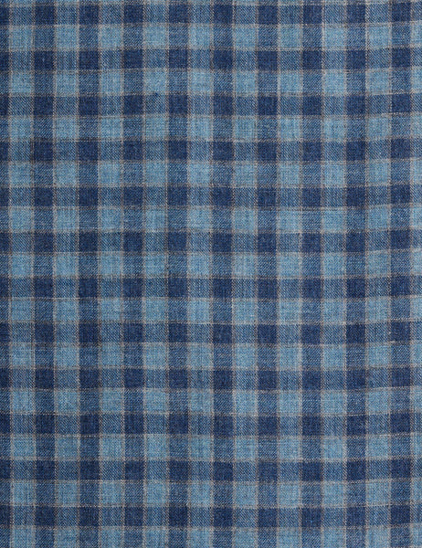 Doublecloth Pacific Shirt - Blue Shadow Check