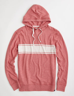 Surf Stripe Slub Hoodie - Summer Red