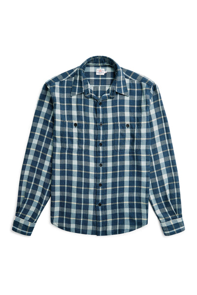 Brushed Alpine Flannel - Indigo Multi Plaid