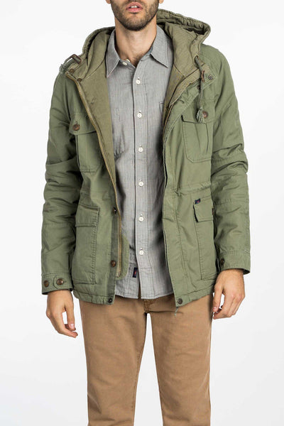olive green mens utility jacket