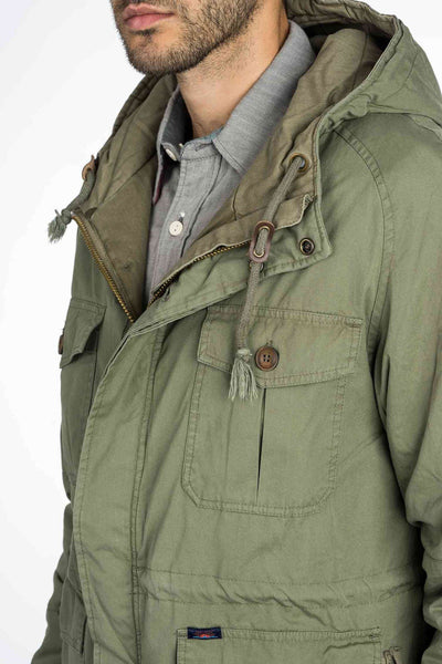 Big Sur Utility Parka - Olive Weather Cloth