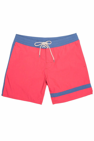 Classic Boardshort (7 Inch Inseam) - Red Surf Stripe
