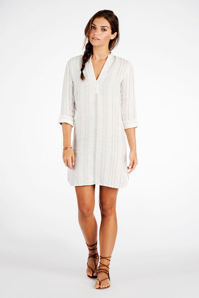 Kewalo Tunic Dress - Linen Stripe