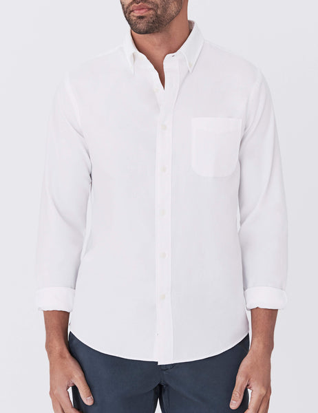 Button-Down Oxford Ventura Shirt - White
