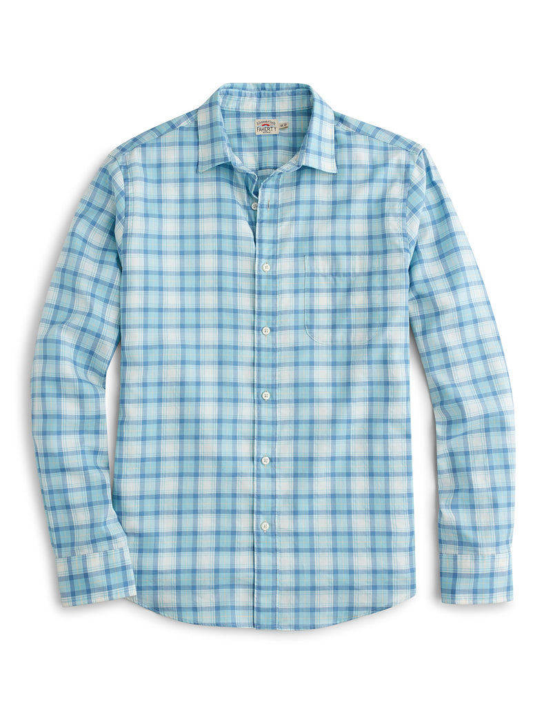 Ventura Shirt - Teal & White Multi