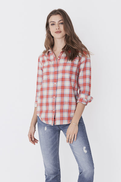 Newport Shirt - Red & Blue Plaid