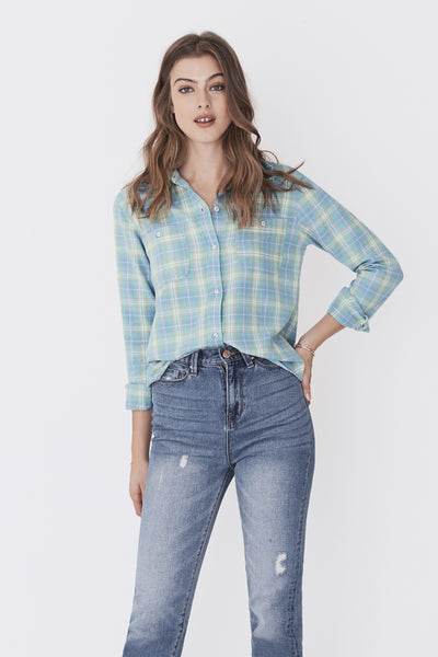 Newport Shirt - Green Blue Plaid