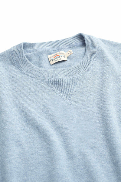 Sconset Crew Sweater - Blue Sky Heather