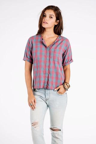 SS Laguna Shirt - Red/Blue