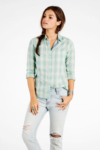 Montauk Shirt - Faded Green Plaid
