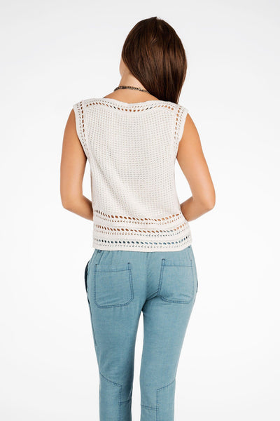 Darla Crochet Top