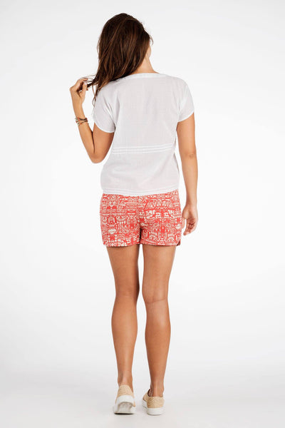 Hula Short - Tribal Print