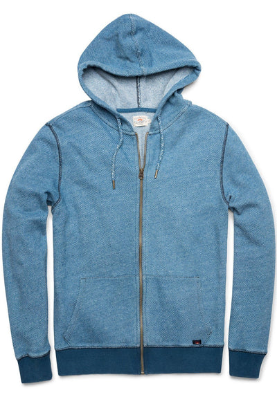 Birdseye Zip Hoodie - Medium Wash Indigo