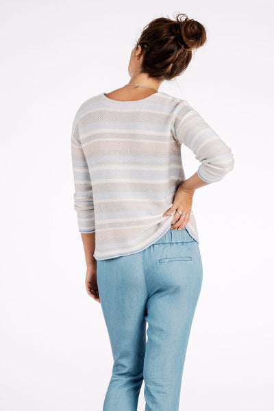Harper Cashmere Striped Sweater