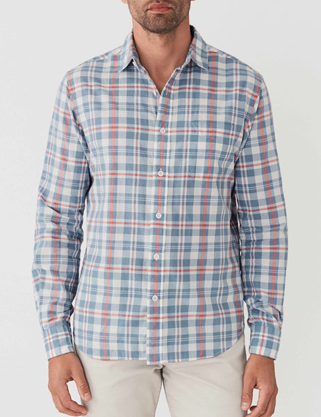 Ventura Shirt - Washed Blue Cream