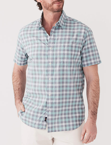 Short-Sleeve Ventura Shirt - Green Grey Cream