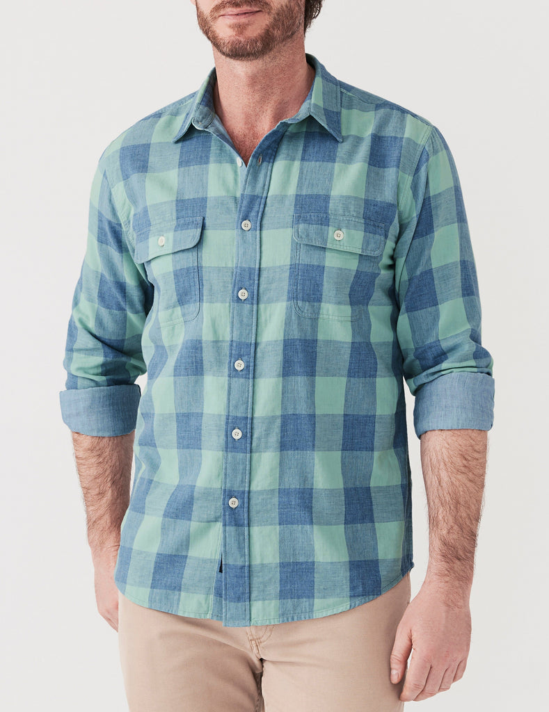 Belmar Shirt - Teal Buffalo Check