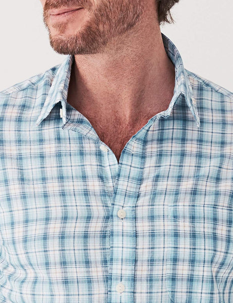 Ventura Shirt - Aqua Blue Plaid